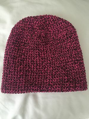Girls Pink and Black Hat One Size