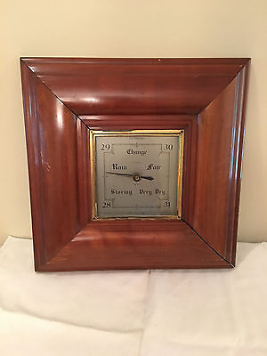 Antique Smiths Barometer Large Solid Cherry Made in Englad