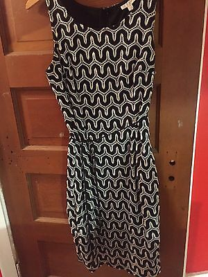 Pea in the Pod black and white embroidered dress size medium