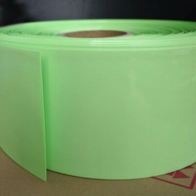 Φ133mm Light Green Battery Sleeve Wrap PVC Heat Shrink Tubing Width 210mm x 1M