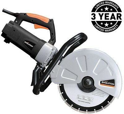 Concrete Saw 15 Amp 12 in. Corded Portable Hi Torque Electric Motor Power Tool