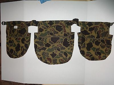 Black Sheep Field Pouches with waist strap in Camo