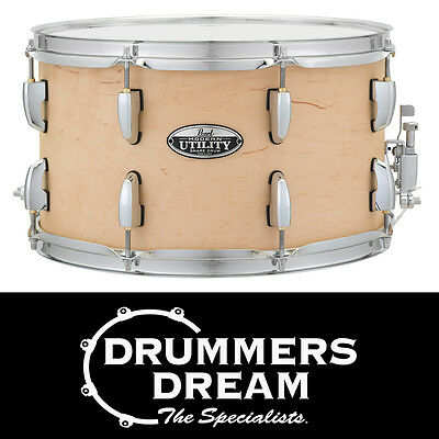 """Pearl Modern Utility 14x8"""" Snare Drum 6-ply Maple Shell Matte Natural Finish"""