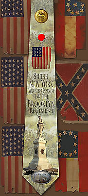 New 84th New York Infantry, 14th Brooklyn Regiment poly satin neck tie