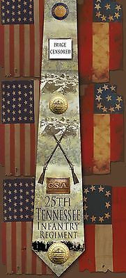 New 25th Tennessee Infantry Regiment poly satin neck tie