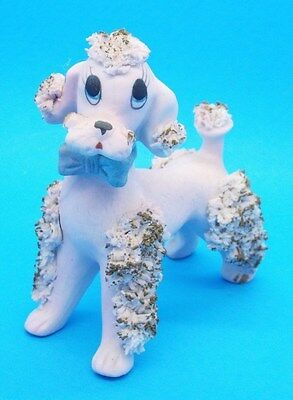Vintage Pink (almost purple) Spaghetti Ceramic French Poodle