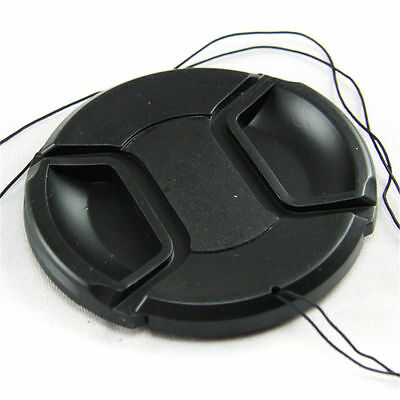 US 49mm Snap-on Front Lens Cap Safety Hood Cover For Camera Canon Nikon Sony