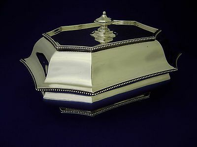 FINE ANTIQUE 19thC GORHAM AMERICAN STERLING SILVER COVERED ENTREE DISH c.1895