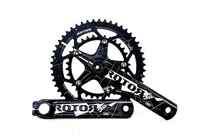 New Rotor 3D24 110x5 BCD Black White 11 Speed  Road Crankset 175 mm Compact