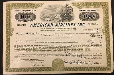 American Airlines Stock Certificate