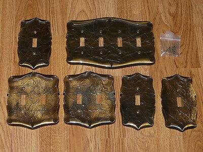 Vintage Amerock Carriage House Single, Double & Quadruple Switch Covers
