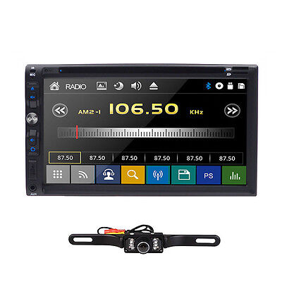 "For Sony Lens Double 2Din 7""Car Stereo Radio DVD Player iPod Bluetooth TV MP3"