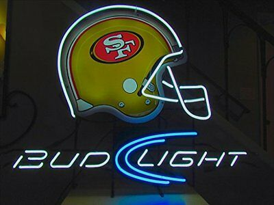 "New Bud Light San Francisco 49ers Beer Neon Sign 20""x16"""