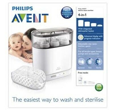 Philips avent 4 in 1 steam steriliser electric for baby bottles and accessories