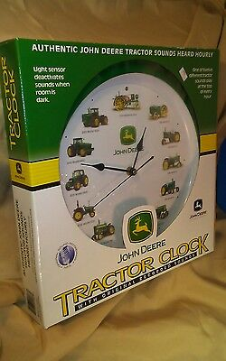 John Deere Tractor Clock w/ Original Recorded Sounds w/ Sensor Deactivate BNIB