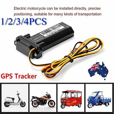4PC Mini Waterproof Motorcycle Vehicle GPS Tracker With Free Online Software APP