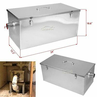 Good Quality 25LB 13GPM Gallon Per Minute Grease Trap Stainless Steel Kitchen
