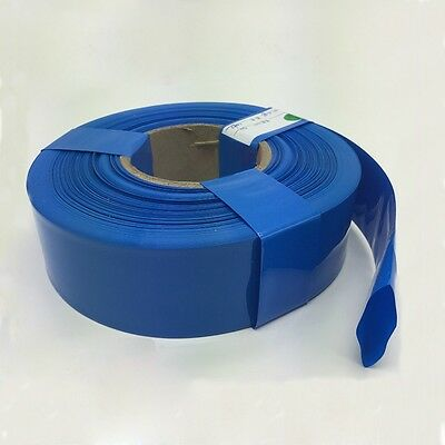 Φ98mm Blue Battery Sleeve Wrap PVC Heat Shrink Tubing Wrap Flat Width 155mm x 1M