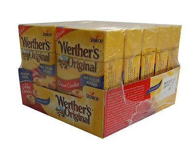 10 x Werthers Original - Sugar Free Cream Candies 42g Bulk Buy + Display Box