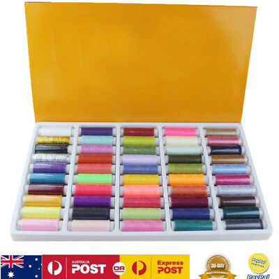 50Pcs 150 Yard Polyester Sewing Threads Embroidery Spools For Hand Machine