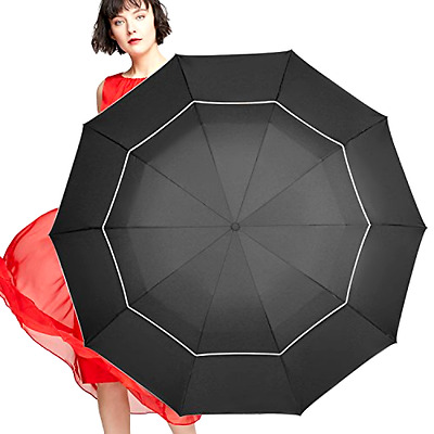 Umbrella Seeu Fit In Bag Compact and Lightweight 63 Inches Black Small Folding