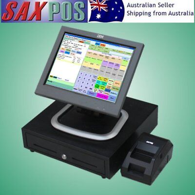 """SAXPOS NEC 15""""Inch Touchscreen Basic POS System Point of Sale System & Software"""