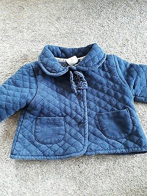 baby girls navy junior j coat 0-3