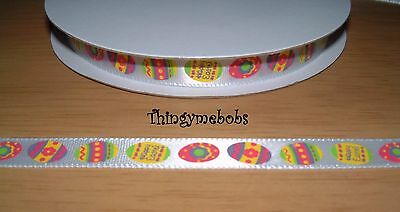1M X 10Mm Easter Egg Satin Ribbon - Easter Crafts/card Making/scrapbooking