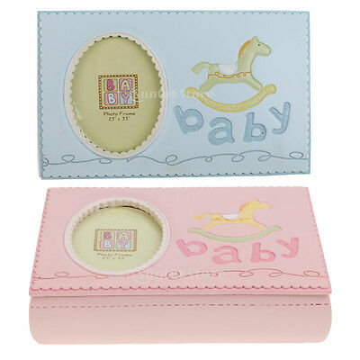MagiDeal Hobbyhorse Photo Frame Tooth Box Keepsake Baby Save Milk Teeth Storage
