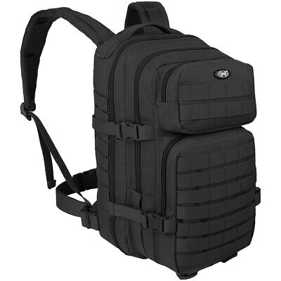 MFH Backpack Assault I 30L Army Police Tactical Trekking Military MOLLE Black