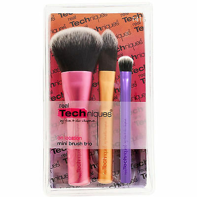Real Techniques Mini Brush Trio Set by Sam & Nic Chapman (1416) Free Delivery