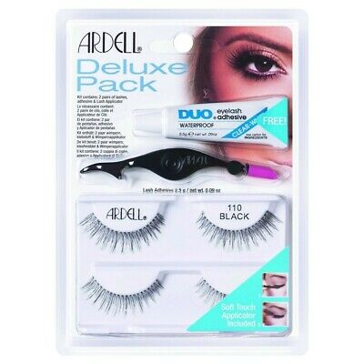 Ardell Deluxe Pack 2 paires Faux-Cils Noirs + Colle Duo + applicateur