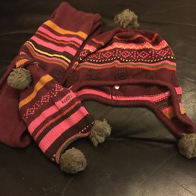 Kenzo Little Girls Scarf And Hat Size 2