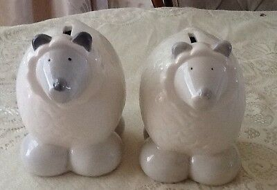 2 Sheep Money Boxes