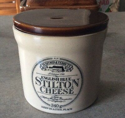 Vintage? English Blue Stilton Cheese Pottery Pot