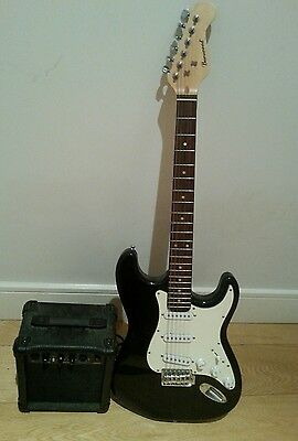 Guitar electric with amp