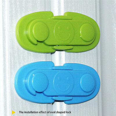Adhesive Baby Child Kids Safety Cabinet Door Fridge Drawer Cupboard Lock
