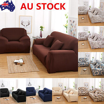 Home 1/2/3/ Seater Stretch Chair Sofa Covers Protector Couch Lounge Slipcovers