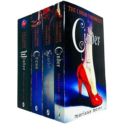 Lunar Chronicles Series 4 Books Collection Set by Marissa Meyer Cinder,Winter Ne