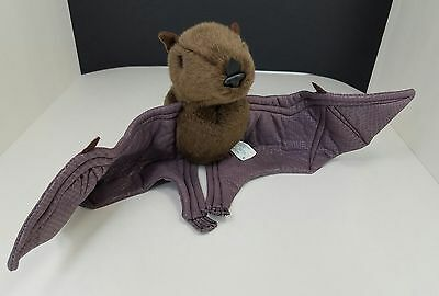 "Vintage Sound Prints 19"" Wingspan Brown Bat Wired Plush Stuffed Animal Life Like"