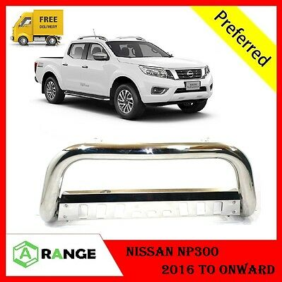 Nissan NP300 2016-17 Front Chrome High Bull Bar Nuge Bar Chrome Axle Nudge **UK