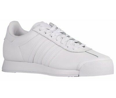Adidas Men's Samoa Round Toe Leather Sneakers (White - 9M)