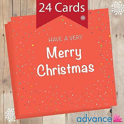 Personalised Christmas Cards - 24 in a Pack - Red Spots