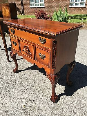 Stunning Solid Mahogany Hallway Chest On Ball Claw Feet