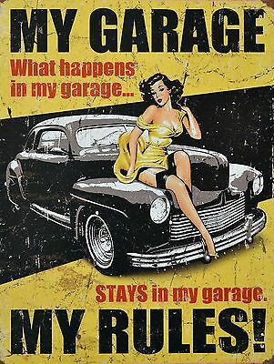 My Garage My Rules 2 Sign Man Cave Garage Shed Funny Gift workshop Mechanic