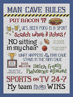 Man Cave Rules Sign Man Cave Garage Shed Funny Gift workshop Mechanic