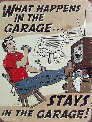 Garage Secrets 2 Sign Man Cave Garage Shed Funny Gift workshop Mechanic