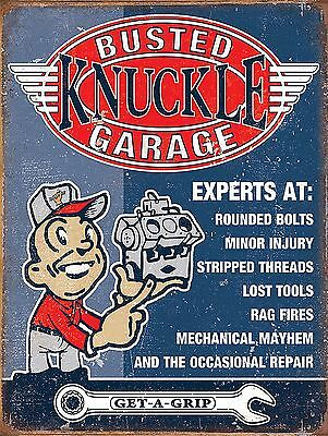 Busted Get a Grip Metal Sign Man Cave Garage Shed Funny Gift workshop Mechanic