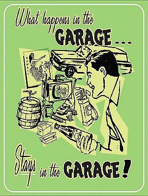 Garage Secrets Sign Man Cave Garage Shed Funny Gift workshop Mechanic