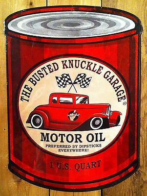 Busted Knuckle Motor Oil Sign Man Cave Garage Shed Funny Gift workshop Mechanic